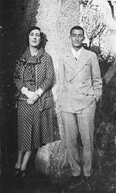 Marie-Laure de Noailles & Salvador Dali in Hyères, circa 1930