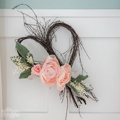 With Valentine's Day coming up next week and Spring on the horizon (I can't WAIT!), I want to share with you how to make a very simple rustic romantic wreath that works for both seasons PLUS a few more easy rustic romantic DIY decorating ideas Valentine Day Wreaths, Valentines Day Decorations, Diy Spring Wreath, Easy Diy, Simple Diy, Diy Decorating, Decor Ideas, Diy Ideas, Craft Ideas