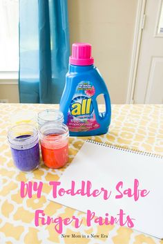 An Easy & fun DIY Toddler Safe Finger Paint recipe   #AD #BringTheTropicsHome #CollectiveBias