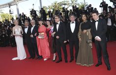Jury members from left, Nicole Kidman, Ang Lee, Steven Spielberg, Naomi Kawase, Lynne Ramsay, Christoph Waltz, Daniel Auteuil, Vidya Balan and Cristian Mungiu arrive for the awards ceremony of the 66th international film festival, in Cannes. ■ Photo: Invision
