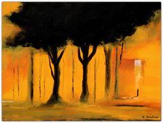 Acryl/Leinwand 30 cm x 40 cm x 1,5 cm Preis über PN  Orange Light