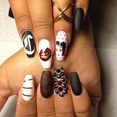 Guns n Roses | Nails by: Laque' Nail Bar | Nail Tech: Kay