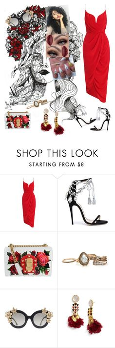 """""""The Cure #LadyGaga"""" by diane-ds ❤ liked on Polyvore featuring Zimmermann, Marchesa, Dolce&Gabbana, Alice + Olivia and Tory Burch"""