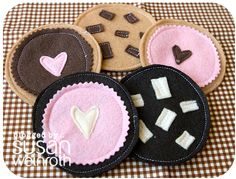 Felt Food. Cute, less expensive than the plastic stuff, DIY-able and customiseble.