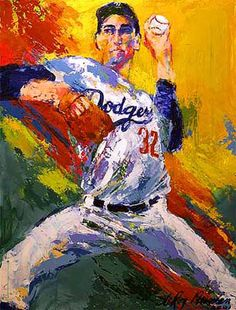 LeRoy Neiman...SANDY KOUFAX; one of the BEST PITCHERS Ever!!!!