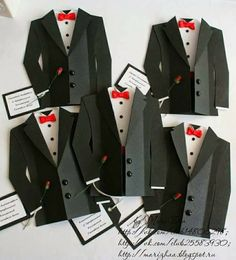 template provided by Marizhaa: Cards for men - tuxedo card Cards For Men, Tuxedo Card, Bachelor Party Invitations, Paper Diamond, Free Printable Tags, Dress Card, Handmade Birthday Cards, Masculine Cards, Diy Cards