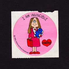 I am Invincible - Cathy Cartoon Sticker