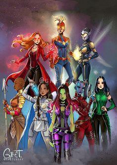 Artwork from the Marvel universe. Avengers Comics, Avengers Fan Art, Marvel Fan Art, Marvel Comics Art, Marvel Films, Marvel Heroes, Marvel Cinematic, Mcu Marvel, Super Héroine Marvel