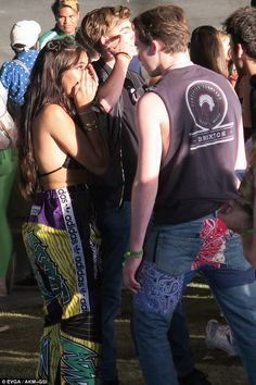 Beck on the scene? Brooklyn Beckham got friendly with Madison Beer at day two of the Coachella music festival in California on Saturday