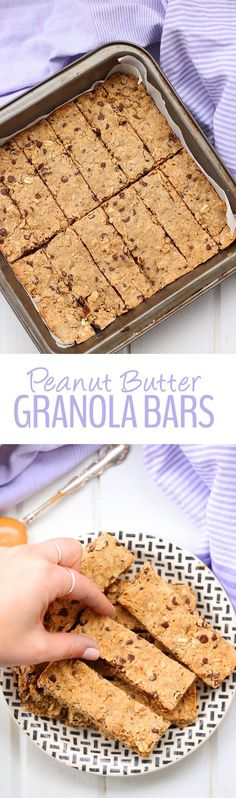 Snacking made easy with these Peanut Butter Granola Bars! Just 6 ingredients is all you need to have a healthy and delicious snack for your busy lifestyle. They're gluten-free and vegan too!
