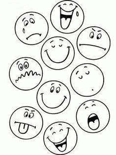 Activities To Teach Kids Emotions Art Drawings For Kids, Drawing For Kids, Easy Drawings, Art For Kids, Emoticons, Smileys, Teaching Activities, Teaching Kids, Emotions Activities