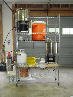Show us your sculpture or brew rig – Page 112 – Home Brew Forums – Brewing Equipment Home Brewery, Beer Brewery, Home Brewing Beer, Homebrew Recipes, Beer Recipes, Coffee Recipes, Brewing Recipes, Brew Stand, All Grain Brewing