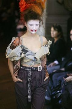 The Vivienne Westwood Spring 2010 Collection Shocks the Audience #hairstyles trendhunter.com