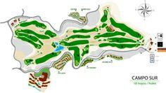 Recorrido del campo sur. Campo de Golf El Salobre. Gran Canaria. Canary Islands