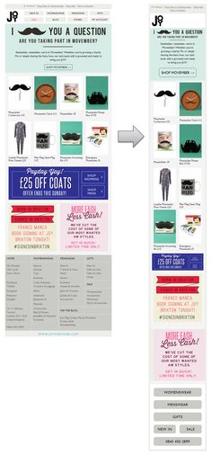 Responsive Email Design from Joy the store