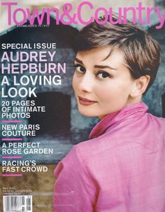 Audrey Hepburn on the cover of Town and Country Magazine