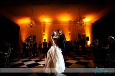 Elegant Chapel Hill wedding venue. Perfect for a first dance in the Old Well Room at The Carolina Inn.