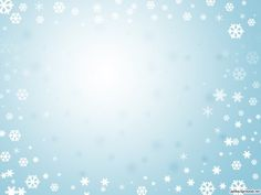 Blue background with Frame of Snowflakes PPT Backgrounds