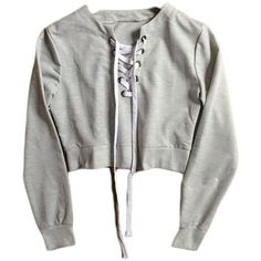 Grey Cross Lace Crop Sweater ($29) ❤ liked on Polyvore featuring tops, sweaters, shirts, jumpers, grey sweater, shirt sweater, cross sweater, grey crop top and grey shirt