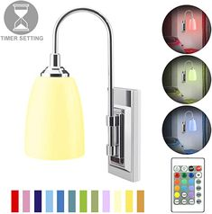 HONWELL Wall Lamp Battery Operated LED Wall Sconces Indoor Wireless Multi Color Wall Sconce Light Fixture for Room Lighting, Stick Lights for Kitchen Hallway Bathroom, 12 Colors, Remote Controlled - - Amazon.com Battery Operated Wall Sconce, Battery Lamp, Battery Lights, Swing Arm Wall Lamps, Led Wall Lamp, Wall Sconce Lighting, Wall Mounted Lamps, Modern Wall Sconces, Wireless Wall Sconce
