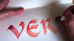 Verf - calligraphy uncial  #week24 #52weeksofhandlettering #poppyred #handlettering #calligraphy