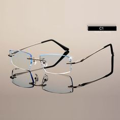 0f2068c568f8 Men Eyewear C001 Diamond Trimming Cutting Rimless Eyeglasses Prescription  Optical Glasses Frame for Man Spectacles Cheap