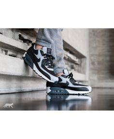 sports shoes da11e 3552d Cheap Nike Air Max 90 Essential Black Wolf Grey Anthracite Trainers