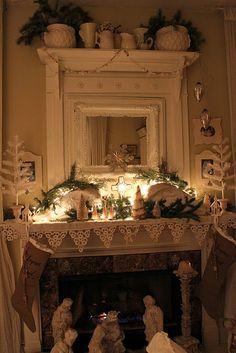 Beautiful Christmas mantel