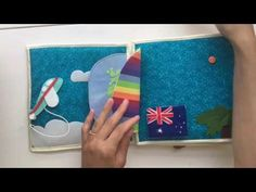 Quiet Book, Educational Book for Toddlers, Baby Gift, Soft Book, Baby Book, Montessori travel toy - YouTube