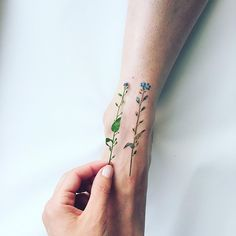 Small Flower Tattoos: Beautiful Flowers Tattoo Designs for Women Unique Tattoos, Beautiful Tattoos, Small Tattoos, Cool Tattoos, Tatoos, Tiny Tattoo, Tattoo Painting, Body Painting, Watercolor Tattoos