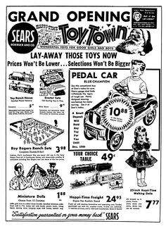 235 best 1940 s 1950 s newspaper vintage retail ads images in 2019 1954 Chevrolet Ad sears toy town november 1955