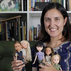 """Tree Change Dolls—These dolls have been rescued and rehabilitated from op-shops and tip shops around Tasmania. These lil fashion dolls have opted for a ""tree change"", swapping high-maintenance glitz 'n' glamour for down-to-earth style. I hand repaint the dolls faces, mold new shoes, and my Mum sews and knits their clothing."""