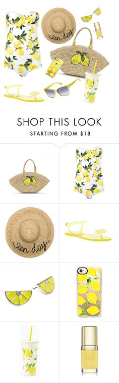 """""""Lemon Rush 03 (#12)"""" by nazanin-mk ❤ liked on Polyvore featuring Dolce&Gabbana, Eugenia Kim, ABS by Allen Schwartz, Casetify, Kate Spade and Max&Co."""