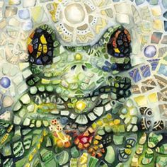 Mosaic style puzzle ~ Froggy-love!