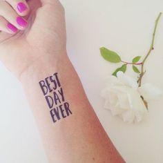 Temporary wedding tattoos - such a fun idea!
