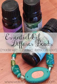 Want to have your favorite essential oil with you everywhere? Real terracotta is the best clay to use but since most of us don't have a kiln these DIY Essential Oil Diffuser Beads (made from an up-cycled terracotta pot) are the best way to make your own essential oil jewelry!