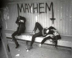 Does it get more metal than hanging out in a baseball dugout? #Mayhem