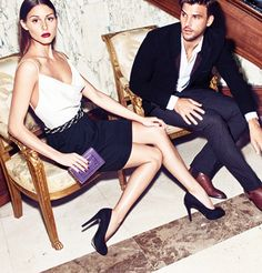 Olivia Palermo Models with Boyfriend for Mango Winter Catalog