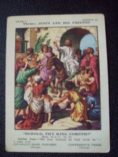 Today marks the beginning of Holy Week, when Christians commemorate the final days before Jesus' death and resurrection. Jesus birth was a. Palm Sunday, Birth Of Jesus, Vacation Bible School, Antique Illustration, Holy Week, 1 John, Sunday School, Christianity