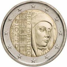 2 euro coin anniversary of the birth of Giotto Euro Währung, Piece Euro, Numismatic Coins, Money Worksheets, Euro Coins, Foreign Coins, Valuable Coins, Coin Art, Money Bank