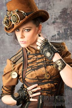 Nomad/steampunk  Beautiful work, I really like the gloves on this one. #steampunk