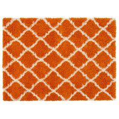 Ultimate Moroccan Trellis Soft Orange Shaggy Area Rug