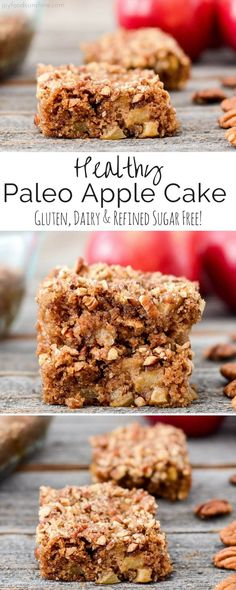Paleo Apple Cake Recipe! An easy, healthy dessert that's full of all your favorite fall flavors! Paleo, gluten-free, dairy-free, and refined sugar free!