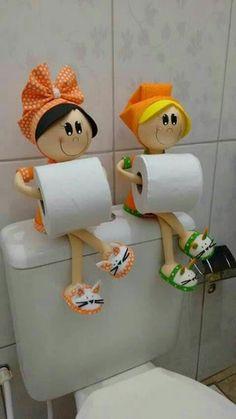 Creative & Easy DIY Toilet Paper Holders DIY Projects is part of pizza - Creative & Easy DIY Toilet Paper Holders Felt Crafts, Diy And Crafts, Arts And Crafts, Paper Crafts, Diy Simple, Easy Diy, Diy Toilet Paper Holder, Craft Projects, Sewing Projects
