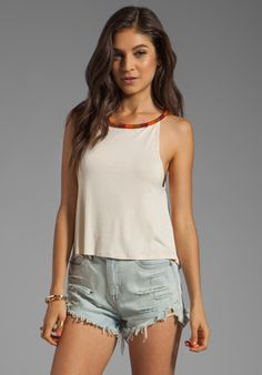 TALLOW Aurora Tank in Cream at Revolve Clothing - Free Shipping! $60