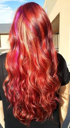 Kenra Color Creative work by Brittany England. #RedHair #OrangeHair