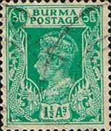 Burma 1938 King George V SG 23 Fine Used Scott 23 Other Stamps of Burma HERE