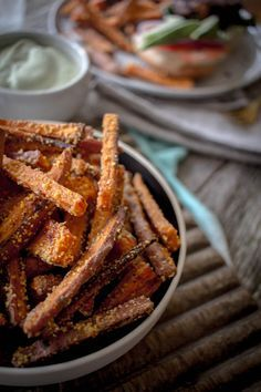 Parmesan & Polenta Oven Baked Sweet Potato Fries recipe by @beardandbonnet on www.beardandbonnet.com