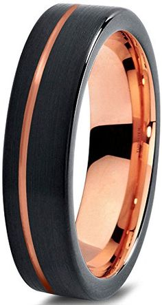 Cyber Week Sale! Tungsten Wedding Band Ring 4mm for Men Women Black & 18K Rose Gold Pipe Cut Brushed Polished Lifetime Guarantee Midnight Rose Collection http://www.amazon.com/dp/B01741A61U/ref=cm_sw_r_pi_dp_BVYxwb1MFMDWX
