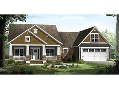 The Twigwood Craftman Style Home has 3 bedrooms and 2 full baths. See amenities for Plan 077D-0187.